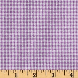 Cotton Seersucker Check Lavender/White