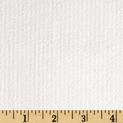 Cotton Seersucker Stripe White/White Fabric