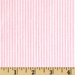 Cotton Seersucker Stripe Pink/White