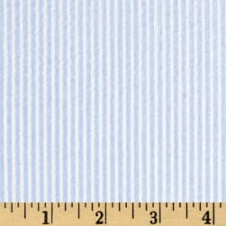 Cotton Seersucker Stripe Blue/White Fabric