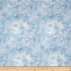 "108"" Wide Essentials Quilt Back Cosmos Sky Blue"