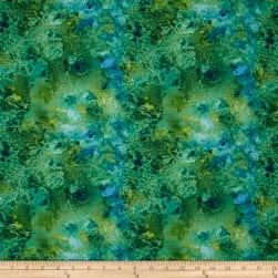 "108"" Wide Essentials Quilt Back Cosmos Blue/Green"