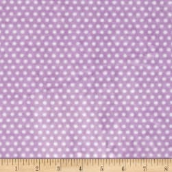 Shannon Minky Cuddle Swiss Dot Lilac/Snow Fabric