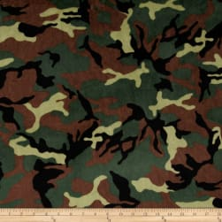 Shannon Minky Cuddle Rambo Camouflage Army