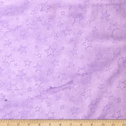 Shannon Minky Cuddle Embossed Star Lilac