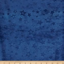 Shannon Minky Cuddle Embossed Star Midnight Blue Fabric