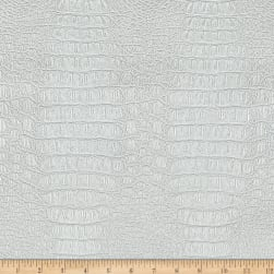 Faux Leather Gator White Fabric