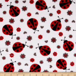 Shannon Minky Cuddle Lady Bug Scarlet Fabric