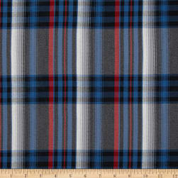 Polyester Uniform Plaid Blue/Black/Red