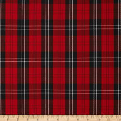 Polyester Uniform Plaid Red/Black/White