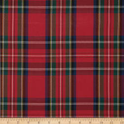 Polyester Uniform Plaid Red/Green/Blue Poplin Fabric