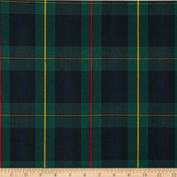 Polyester Uniform Plaid Red/Green/Yellow Poplin Fabric