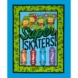 Teenage Mutant Ninja Turtles Super Skater Panel Blue Fabric
