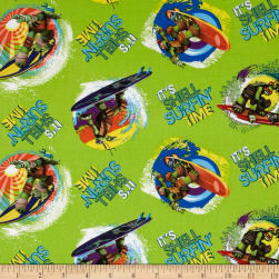 Teenage Mutant Ninja Turtles It's Shell Surfin' Time Green