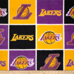 NBA Fleece Los Angeles Lakers Block Fabric