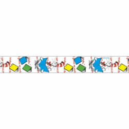 "7/8"" Dr. Seuss Books Ribbon Multi"