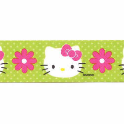 "7/8"" Hello Kitty Ribbon Green"
