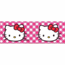 "7/8"" Hello Kitty Gingham Ribbon Pink"