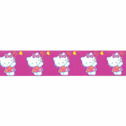 "7/8"" Hello Kitty Flower Ribbon Purple"