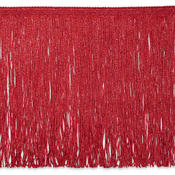 "12"" Metallic Chainette Fringe Red"