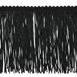 "4"" Stretch Chainette Fringe Trim Black"