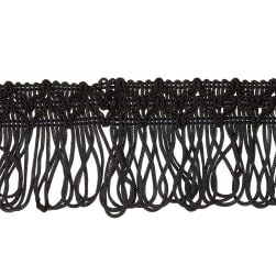 "2"" Sharlene Loop Chainette Fringe Black"
