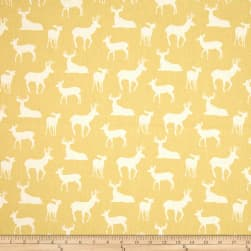 Premier Prints Deer Silhouette Saffron Yellow Fabric