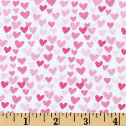 Timeless Treasures Hearts Pink