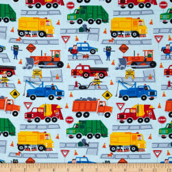 Timeless Treasures Trucks Sky Fabric