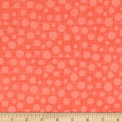 Michael Miller Hashmark Hash Dot Papaya Fabric