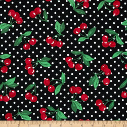 Michael Miller Cherry Dot Black Fabric