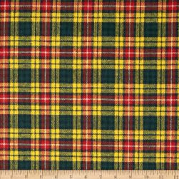 Washable Wool Plaid Yellow/Red/Navy