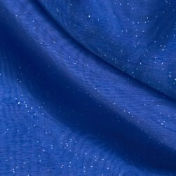 Star Struck Embellished Organza Royal Fabric