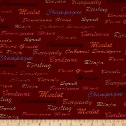 Wine Country Words Fabric
