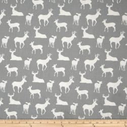 Premier Prints Deer Silhouette Cool Grey