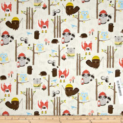 Timeless Treasures Woodland Animals Cream