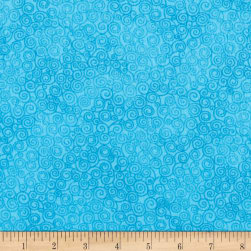Timeless Treasures Jazz Flannel Turquoise