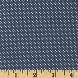 Telio Morocco Blues Stretch Poplin Pin Dot Ocean