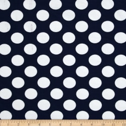Telio Paola Pique Knit Large Dots Navy/Ivory Fabric