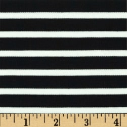 Telio St. James Stripe Double Knit Ecru/Black Fabric