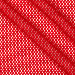 Telio Mod Stretch Mesh Red Fabric
