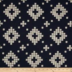 Cotton + Steel Mesa Canvas Tile Navy Fabric