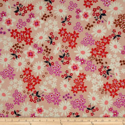 Cotton + Steel Playful Lawn Vintage Floral Pink