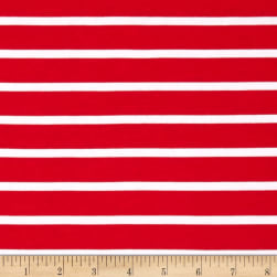 Riley Blake Jersey Knit Stripe Red Fabric