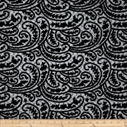 Telio Mavis Faux Leather Embroidery Netting Black Fabric