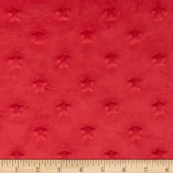 Telio Minky Star Dot Red Fabric