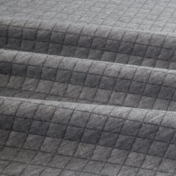 Telio Cozy Quilt Knit Grey Fabric