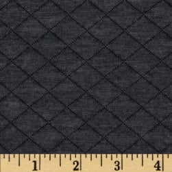 Telio Cozy Quilt Knit Charcoal Fabric