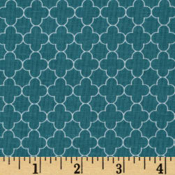 Riley Blake Mini Quatrefoil Teal