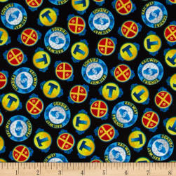 Fast Friends! Medallion Toss Black Fabric